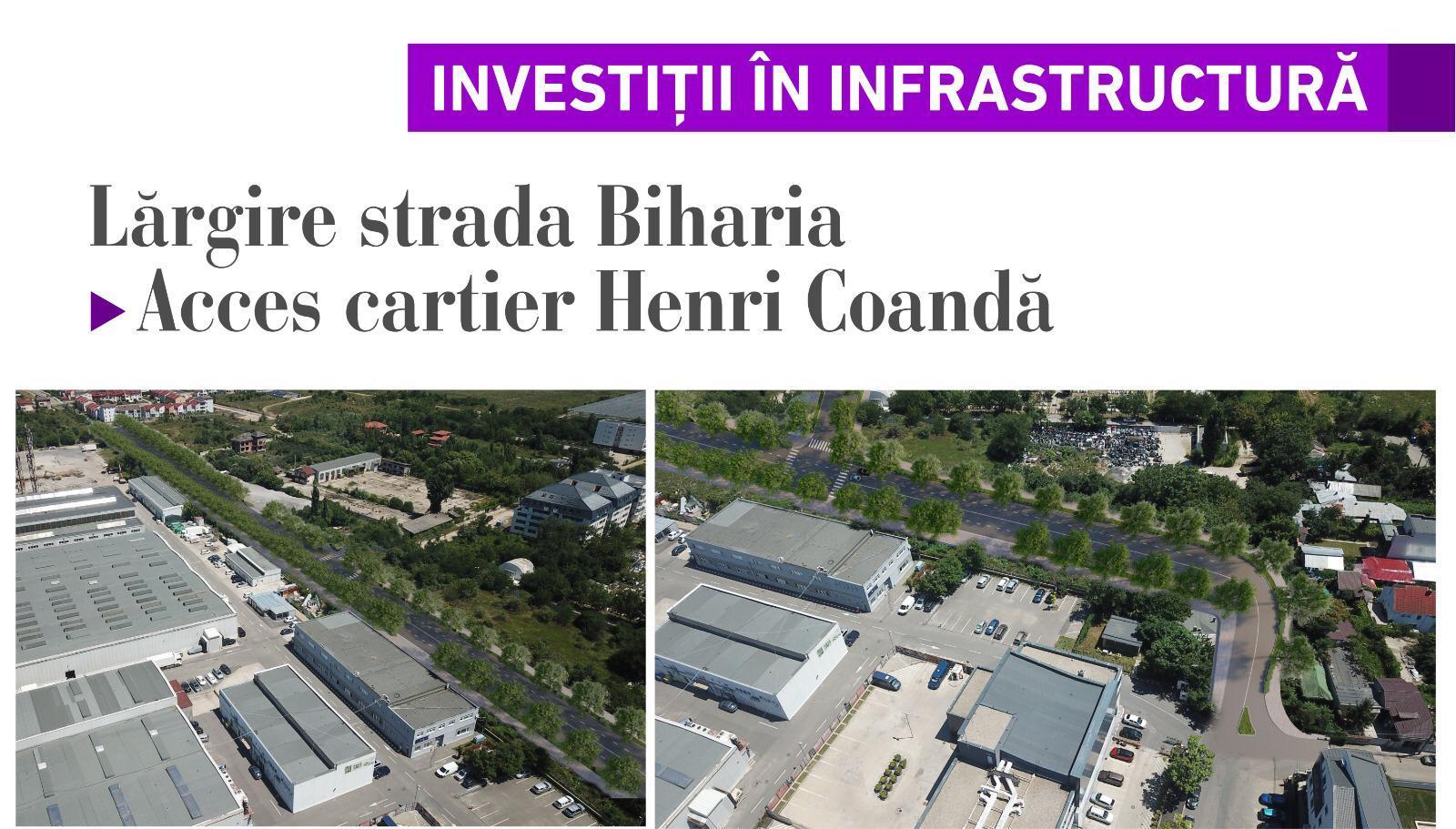 Lărgire strada Biharia - acces cartier Henri Coandă