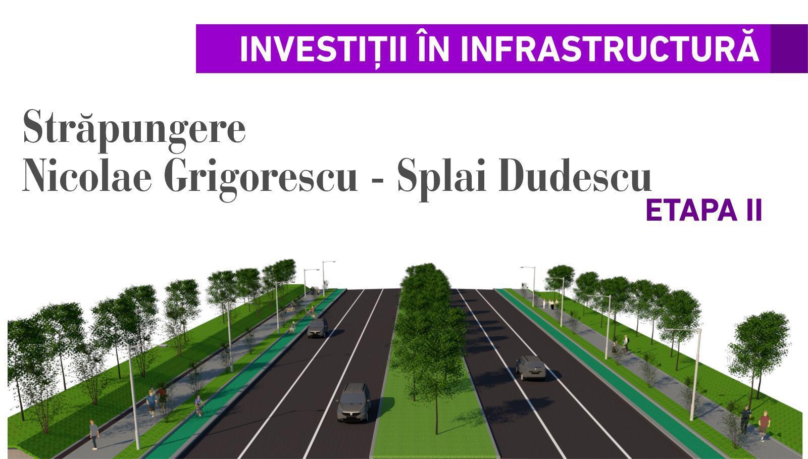 Străpungere Nicolae Grigorescu - Splai Dudescu. Etapa II.