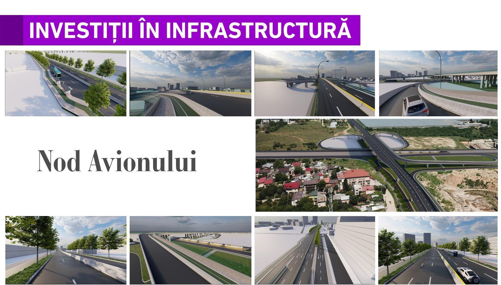 Nod Avionului  Proiectul reprezintă soluția de infrastructură care închide inelul median de circulație din Nordul Capitalei.  A fost revizuit studiul de fezabilitate de către specialiștii Companiei Municipale Dezvoltare Durabilă București S.A., iar Consiliul General al Municipiului București a aprobat indicatorii tehnico-economici.  Proiectul presupune realizarea unui nod rutier lung de 1,7 km, din care aproape 500 de metri reprezintă un pasaj suprateran.   Costurile sunt estimate la peste 90 de milioane de euro, din care aproape jumătate înseamnă exproprierile necesare în zonă.